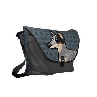 Cartoon Australian Cattle Dog / Kelpie Messenger Bag