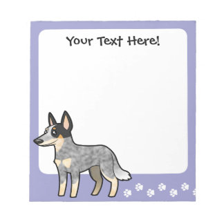 Cartoon Australian Cattle Dog / Kelpie Notepad