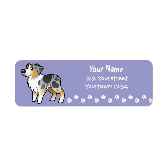 Cartoon Australian Shepherd