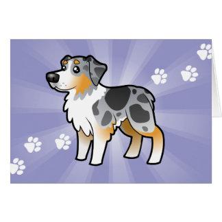 Cartoon Australian Shepherd Card