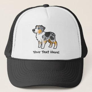 Cartoon Australian Shepherd Trucker Hat