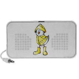 Cartoon Baby Chick Wearing a Raincoat Notebook Speaker