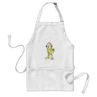Cartoon Baby Chick Wearing a Raincoat Standard Apron