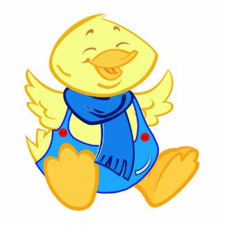 Cartoon baby duck Photo sculpture / magnet / pin