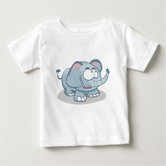 Cartoon baby elephant looking into the sky baby T-Shirt