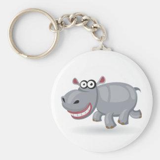 Cartoon baby Hippo Key Ring
