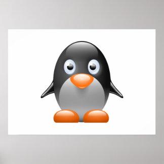 Cartoon Baby Penguin Posters