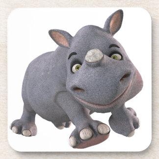 cartoon Baby Rhino Coasters