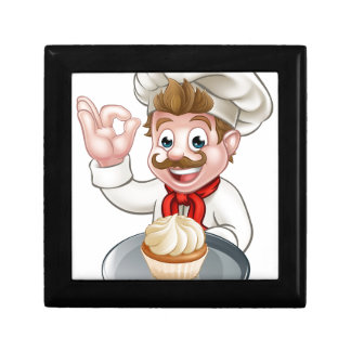 Cartoon Baker or Pastry Chef Gift Box