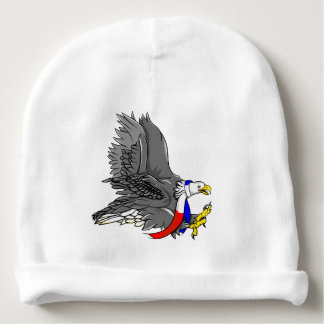 Cartoon Bald Eagle Baby Beanie