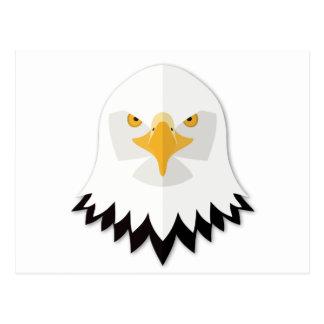 Cartoon Bald Eagle Head Post Cards