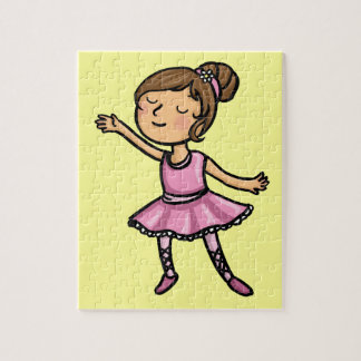 Cartoon Ballet Dancer Jigsaw Puzzle