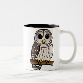 Cartoon Barred Owl Mugs