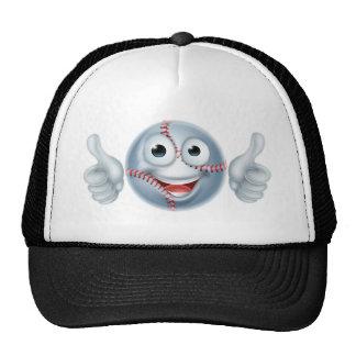 Cartoon Baseball Ball Man Character Cap