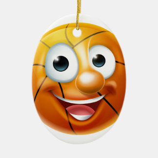 Cartoon Basketball Ball Character Ceramic Oval Decoration