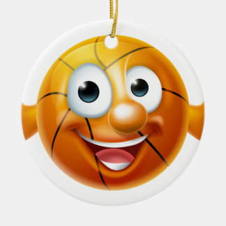 Cartoon Basketball Ball Character Round Ceramic Decoration