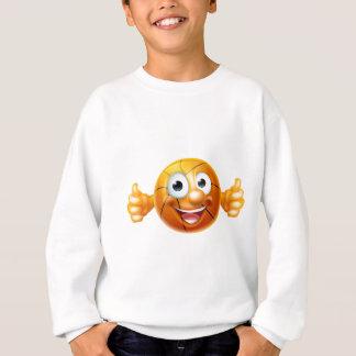 Cartoon Basketball Ball Character Sweatshirt
