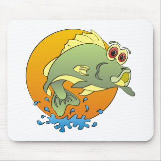 Cartoon Bass Mousepads