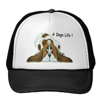 Cartoon Basset Hound, A Dog's Life Cap