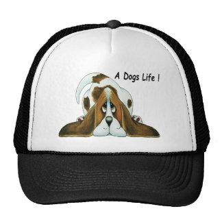 Cartoon Basset Hound, A Dog's Life Hats