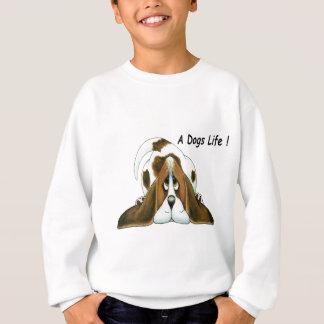 Cartoon Basset Hound, A Dog's Life Sweatshirt