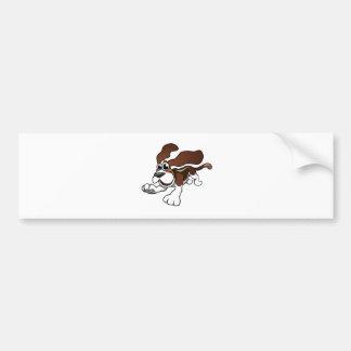 Cartoon Basset Hound Bumper Sticker