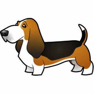 Cartoon Basset Hound Photo Sculpture Magnet