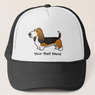 Cartoon Basset Hound Trucker Hat