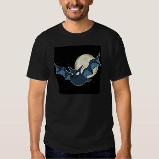 Cartoon Bat & Moon (Blue/White Version) Tshirt