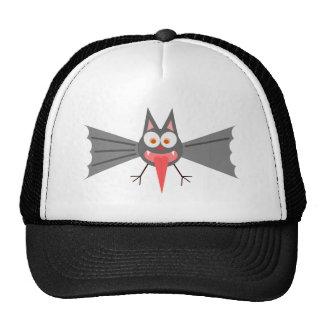 Cartoon Bat Sticking Out Tongue Cap