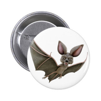 Cartoon Bat with Wings in Upstroke 6 Cm Round Badge