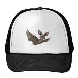 Cartoon Bat with Wings in Upstroke Cap