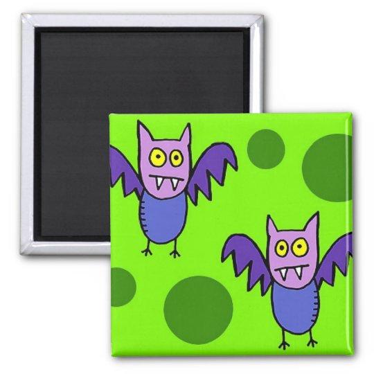 """""""Cartoon Bats"""" Fridge Magnet"""
