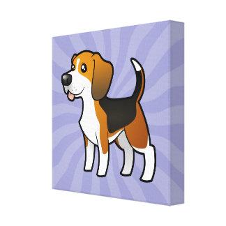 Cartoon Beagle Gallery Wrap Canvas