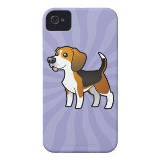 Cartoon Beagle iPhone 4 Case-Mate Case