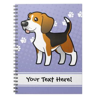 Cartoon Beagle Notebooks