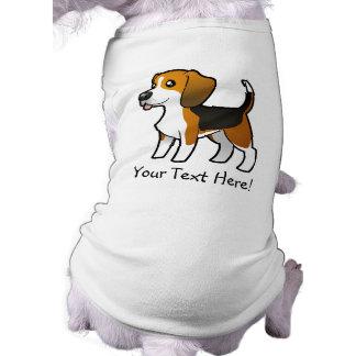 Cartoon Beagle Sleeveless Dog Shirt
