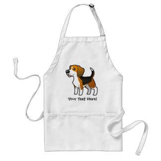Cartoon Beagle Standard Apron