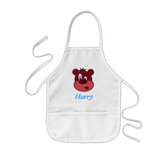 Cartoon bear kids apron