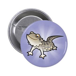Cartoon Bearded Dragon / Rankin Dragon 6 Cm Round Badge