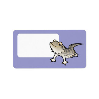 Cartoon Bearded Dragon / Rankin Dragon Address Label