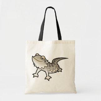 Cartoon Bearded Dragon Rankin Dragon Canvas Bags