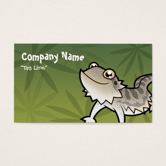 Cartoon Bearded Dragon / Rankin Dragon Business Card