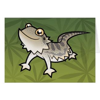 Cartoon Bearded Dragon / Rankin Dragon Card
