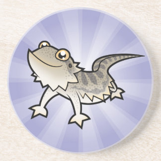Cartoon Bearded Dragon / Rankin Dragon Coaster
