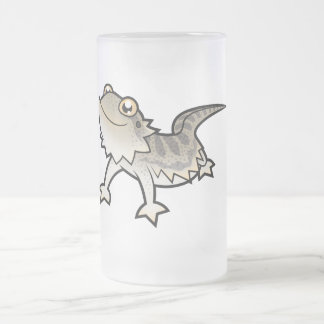 Cartoon Bearded Dragon / Rankin Dragon Frosted Glass Beer Mug