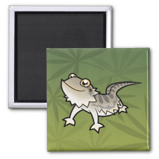 Cartoon Bearded Dragon / Rankin Dragon Magnet