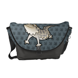 Cartoon Bearded Dragon / Rankin Dragon Courier Bags