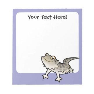Cartoon Bearded Dragon / Rankin Dragon Notepads