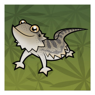 Cartoon Bearded Dragon / Rankin Dragon Poster